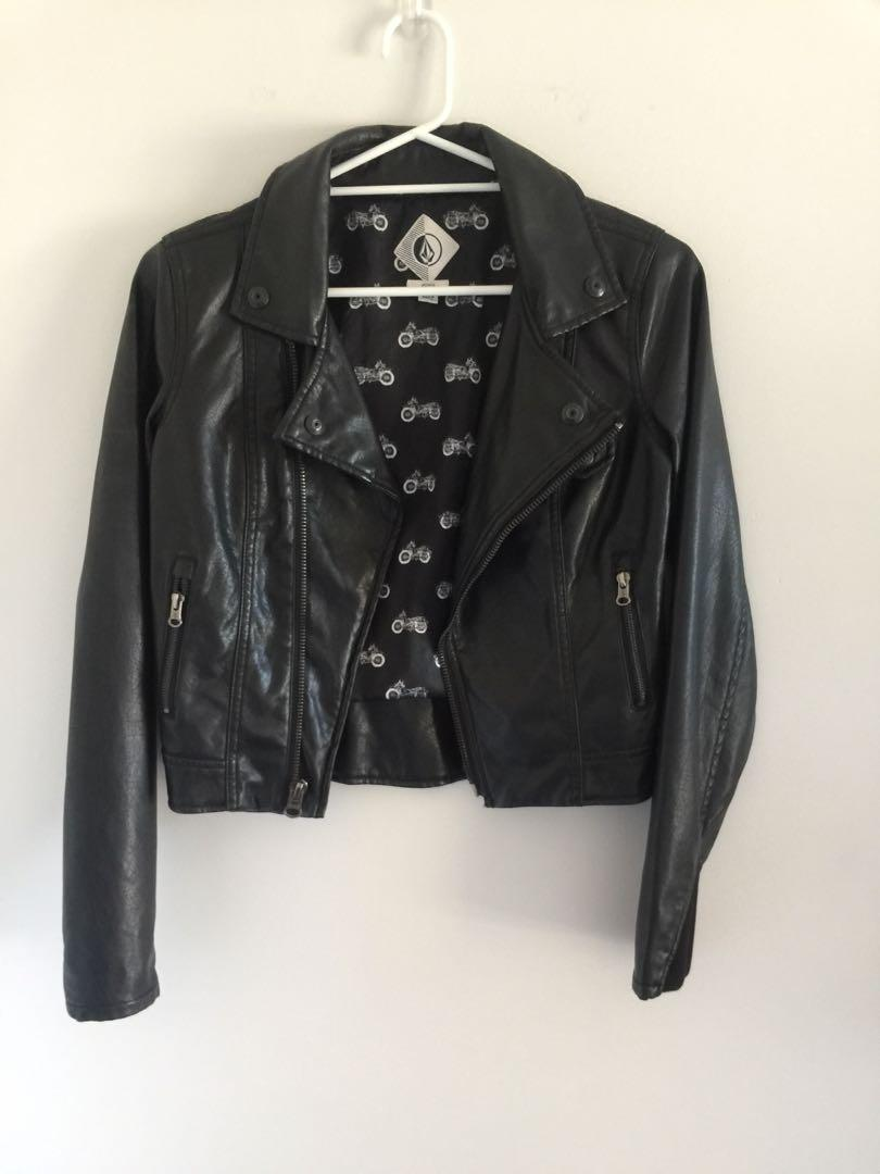 Volcom Faux Leather Jacket