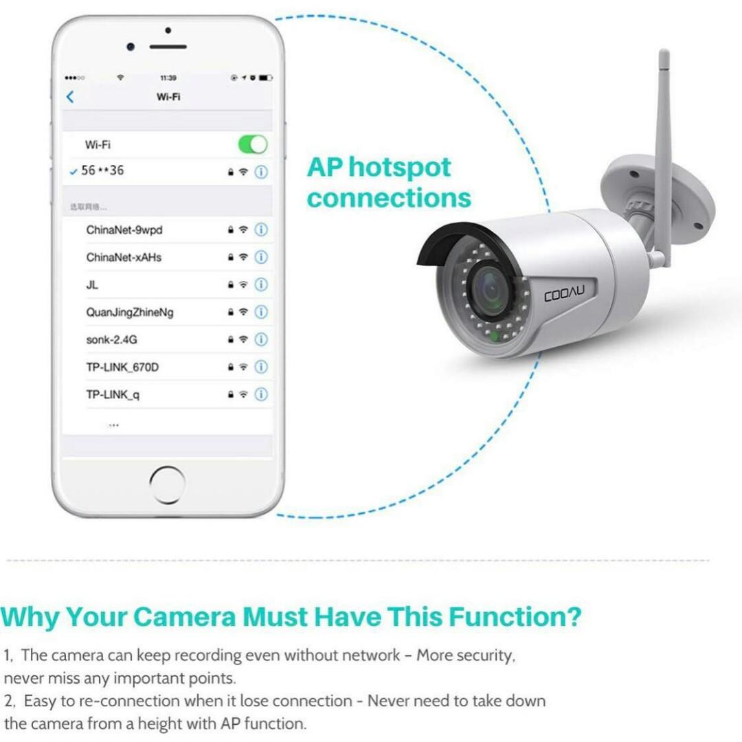 Wireless Security Surveillance Bullet Camera System