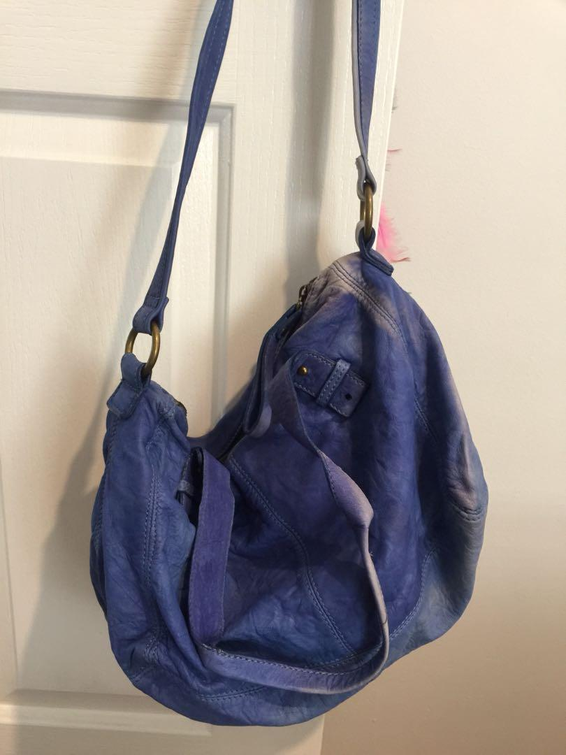 Witchery Blue Leather Bag
