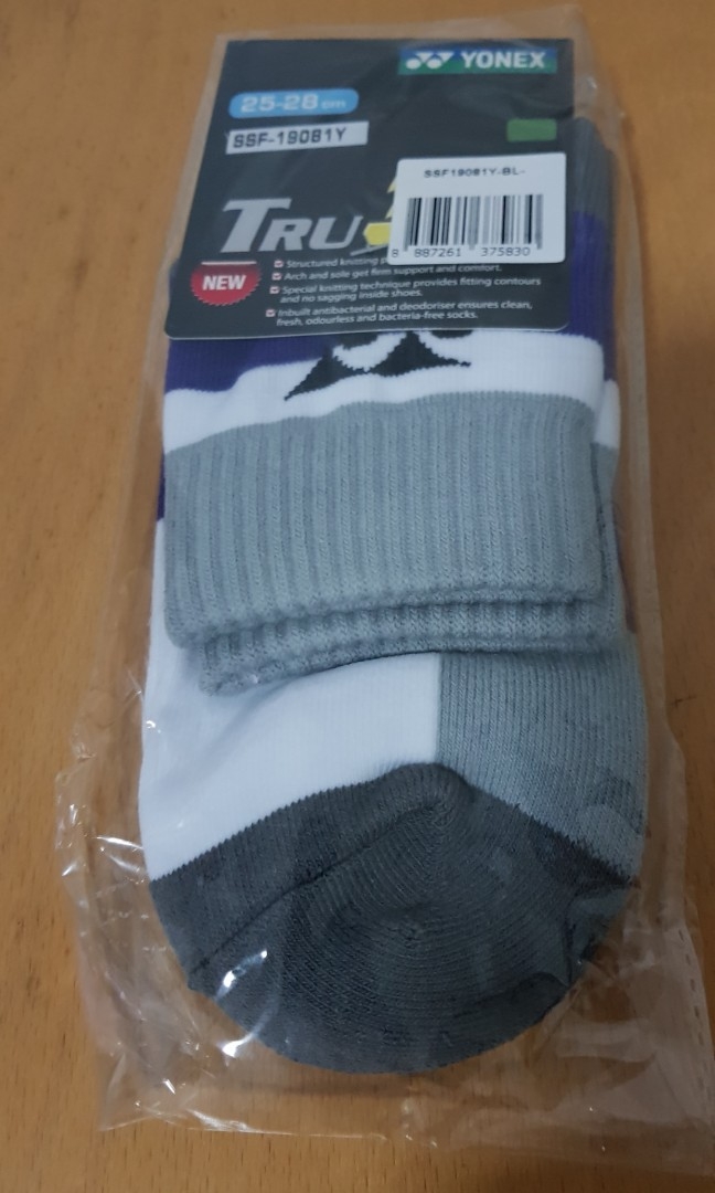 366755caa YONEX Sports Sock l Purple, Sports, Sports Apparel on Carousell