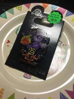 迪士尼徽章 襟章 Disney pin The Nightmare Before Christmas 25th anniversary