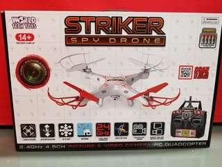 STRIKER SPY DRONE WITH CAMERA AND VIDEO