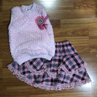 Tartan Pink Set