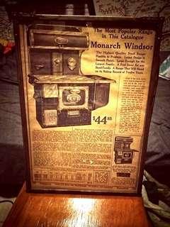 美國30-40年代雜誌內頁厨具廣告連框2 古道具