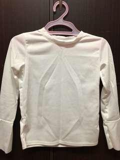 Ribbed Long Sleeves Top