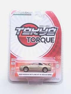Greenlight Collectibles 2001 Nissan Skyline GT-R R34 M-Spec