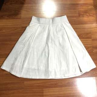 Chic Simple White Skirt