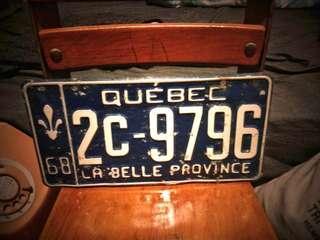 美國工業風vintage舊車牌3張 古道具