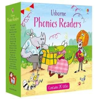 Usborne Phonics Readers Set (20 books + CD)