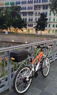 Seatpost Rear rack storage box with lock bikepacking