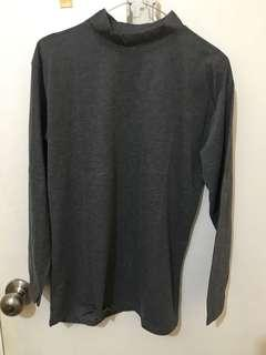 3 baju 100rb - atasan turtleneck abu2 grey
