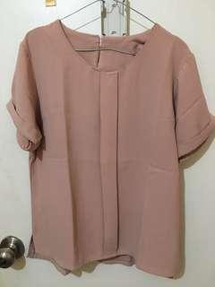 3 baju 100rb - dusty pink top