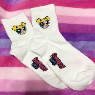 🚚 飛天小女警襪子 長襪 韓國 泡泡 可愛