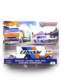 Hot Wheels Team Transport Nissan Laurel 2000 SGX Sakura Sprinter