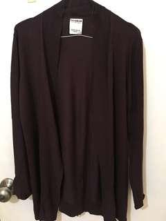 3 baju 100rb - Pull & Bear cardigan brown M