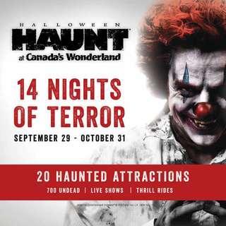 Halloween Haunt + parking pass