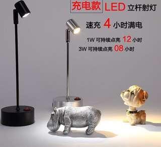 首飾展示櫃LED打光燈 (2座黑色白光)