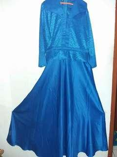 Dress gamis bahan satin