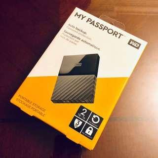 WD My Passport 2TB external hard disk