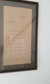 Preloved large quality framed poems