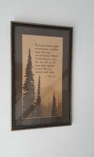 Preloved large vintage quality framed poem