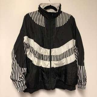 Vintage Black & White Windbreaker