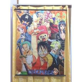 ONE PIECE Fabric (Satin) Poster With Hanger