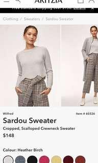 Aritzia wilfred sardou scallop sweater