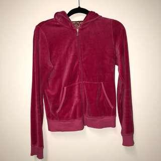 Juicy Couture Hot Pink Velour Track Jacket