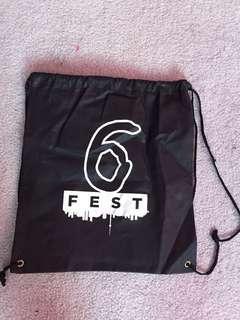 The 6ix drawstring bag