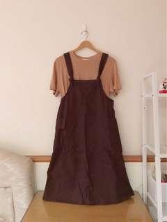 🚚 設計品牌 側口袋吊帶裙