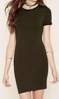 FOREVER 21 Olive&Black Ringer Tee Dress