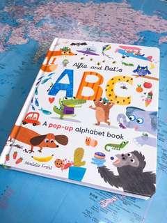 NEW~ Alfie and Bet's ABC pop up alphabet book 立體字母書