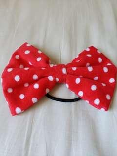 Big felt bow hair tie