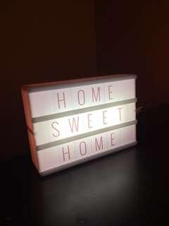Pink led sign customizable home decor