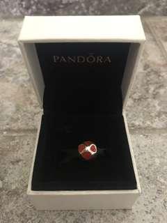 Pandora Red Hearts Charm