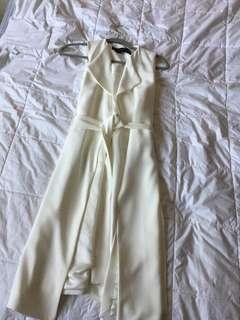 Zara Cream Long Vest