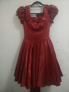 NWT Red Shimmering Lolita Dress (Size S) BODYLINE Elizabeth Semiformal OP Japan