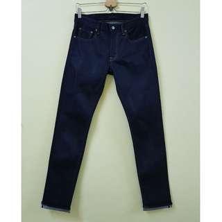 W29 Uniqlo Kaihara Slim Straight Stretchable Selvedge Jeans.
