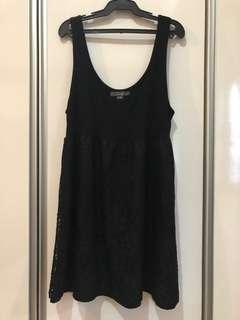 Sleeveless Laced Black Mini Dress
