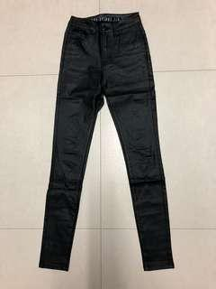Cotton On Black Coated Jeans