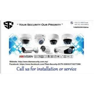 CCTV installation and service.