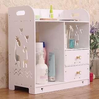 Decorative storage rak makeup