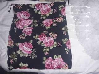 Style 1: Skirt Floral black
