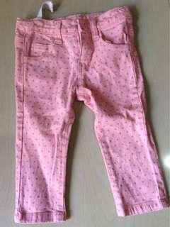 polka dots pink pants