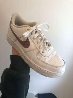 Air Force 1's (rose gold tick)