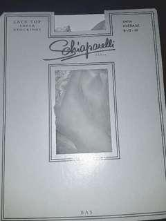 FREE POSTAGE White Stockings by Schiaparelli