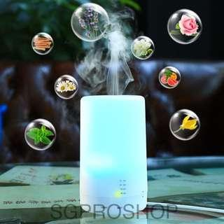 MUJI Style 7 LED Colours Aroma Diffuser, Free Essential Oil, Air Humidifier and Purifier. Suitable for use in car and as gifts