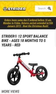 Red Strider Bike