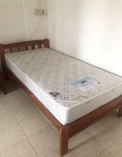 Single Bed Mattress & Frame